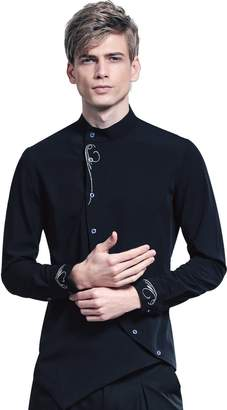 FANZHUAN Long Sleeve Button Down Shirts Shirt Long Sleeve Collar Shirt Fitted Mens Dress Shirts