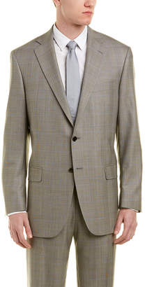 Hart Schaffner Marx Chicago Classic Fit Wool Suit With Flat Front Pant