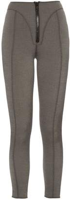 Lisa Marie Fernandez Yoke zip-front high-waisted leggings