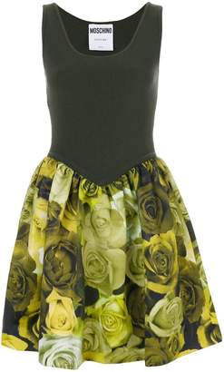 Moschino ribbed floral dress