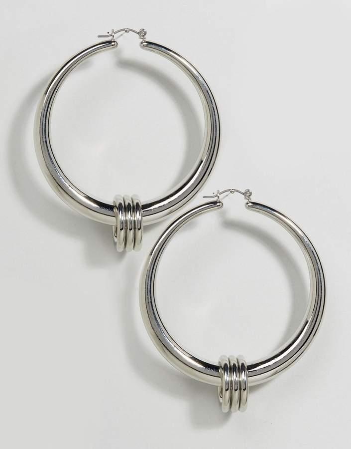 Asos Triple Ring Thick Hoop Earrings