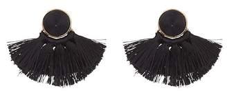 Ettika Large Tassel Stud Earrings