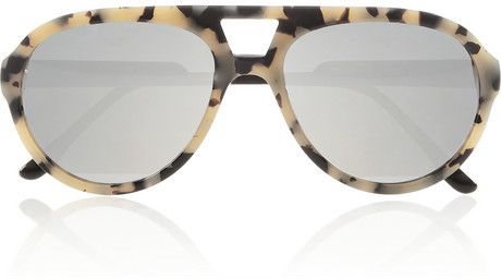 Stella McCartney Aviator-style acetate mirrored sunglasses