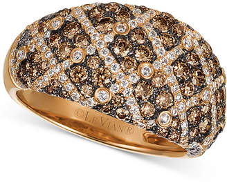 LeVian Le Vian Chocolatier Diamond Dome Ring (1-5/8 ct. t.w.) in 14k Rose Gold