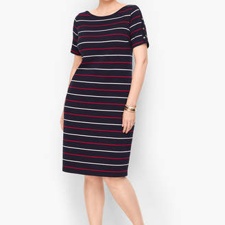 Talbots Stripe Knit Shift Dress