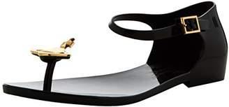 Vivienne Westwood & Melissa Women's VW Honey T-Bar Sandals (Black Orb), 38 EU