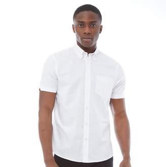 Ben Sherman Short Sleeve Plain Oxford Shirt White