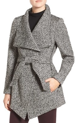 Women's Jessica Simpson Belted Tweed Coat $168 thestylecure.com