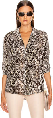 L'Agence Nina Long Sleeve Blouse in Natural Multi Python | FWRD