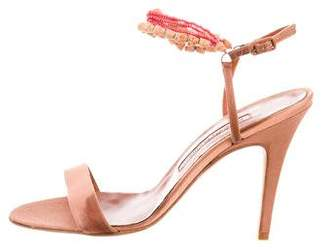 Manolo Blahnik Embellished Ankle Strap Sandals