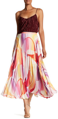 Robert Graham Aria Pleated Print Maxi Skirt $298 thestylecure.com