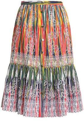 Saloni Broderie Anglaise Printed Cotton Skirt