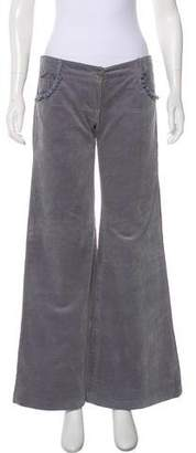 Matthew Williamson Corduroy Mid-Rise Pants