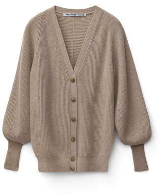 Alexander Wang Alexanderwang ENGINEERED V-NECK CARDIGAN