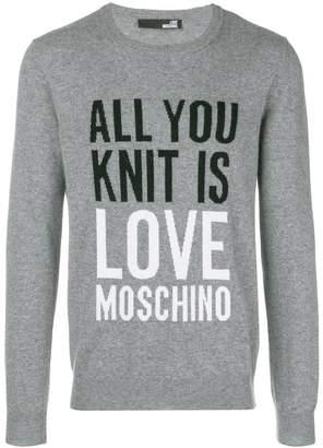 Love Moschino slogan sweater