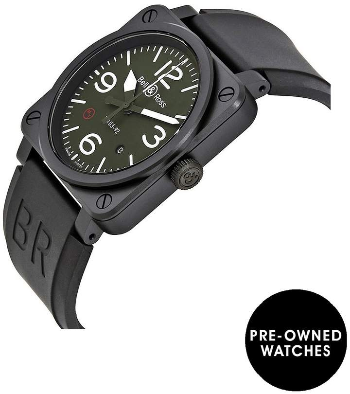 Pre-Owned Aviation Military Type Khaki Ceramic Mens Watch, Ref BR0392-MIL-CE