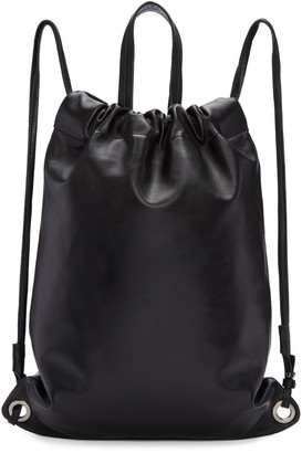 Robert Clergerie Black Leather Sporty Backpack $650 thestylecure.com