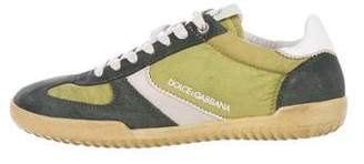 Dolce & Gabbana Suede-Trimmed Sneakers