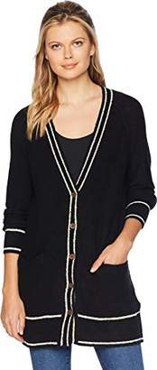 Lucky Brand Women's Button Front Cardigan Sweater Black