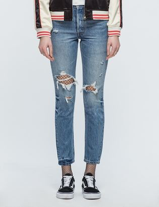 Levi's 501 Skinny Old Hangout Jeans $115 thestylecure.com