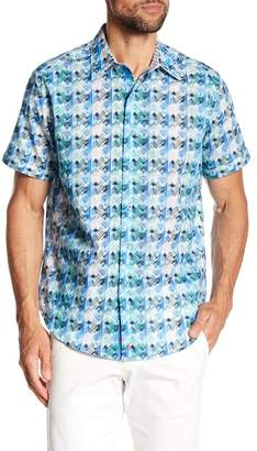 Robert Graham Ipanema Short Sleeve Classic Fit Print Woven Shirt