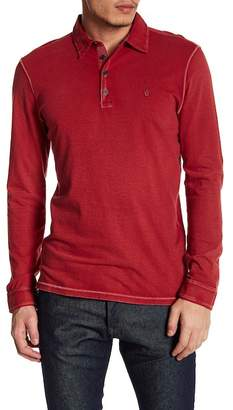John Varvatos Vintage Wash Long Sleeve Polo