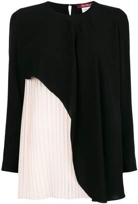 Max Mara contrast layered blouse