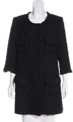 Smythe Bouclé Knee-Length Coat