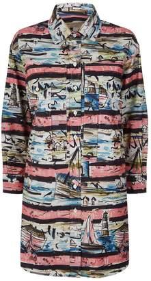 Burberry Coastal Sketch Printed Shirt