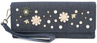 Christian Siriano denim clutch