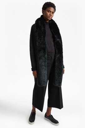 French Connection Double Sided Vhari Faux Fur Collar Coatigan