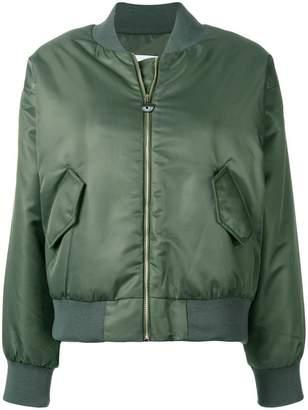 Chiara Ferragni eye applique bomber jacket