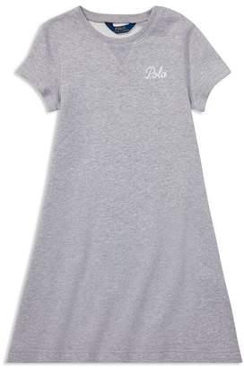 Ralph Lauren Girls' French Terry Sweater Dress - Big Kid