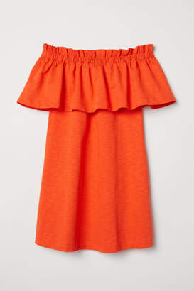 H&M Off-the-shoulder Dress - Orange