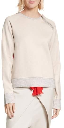 NEVERBEFORE Zip Combo Sweatshirt