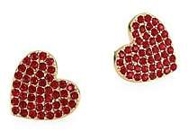 Kate Spade Pavé Heart& 14K Yellow Goldplated Stud Earrings
