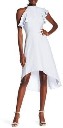 Rachel Roy Sleeveless Ruffle Hi-Lo Dress
