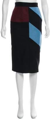 Roksanda Colorblock Knee-Length Skirt