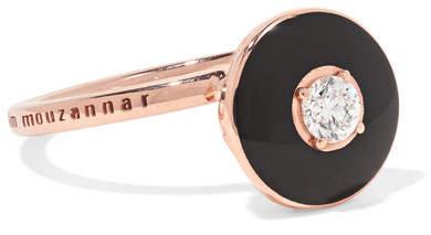 Selim Mouzannar - Mina 18-karat Rose Gold, Enamel And Diamond Ring