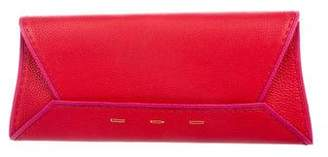 VBH Large Leather Manila Clutch