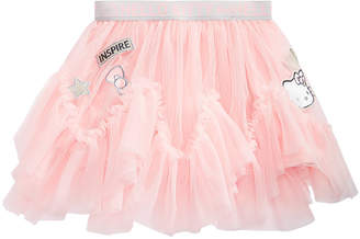 Hello Kitty Little Girls Patched Tulle Skirt