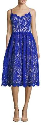 Eliza J Lace Scalloped Fit-&-Flare Dress