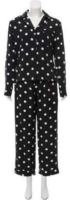Reformation High-Rise Polka Dot Pajama Set w/ Tags