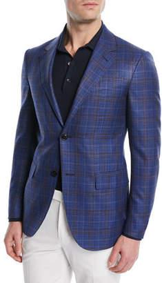 Ermenegildo Zegna Wool-Silk Plaid Jacket