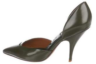 Celine Leather d'Orsay Pumps
