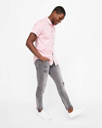 Express Slim Dobby Short-Sleeve 1Mx Shirt