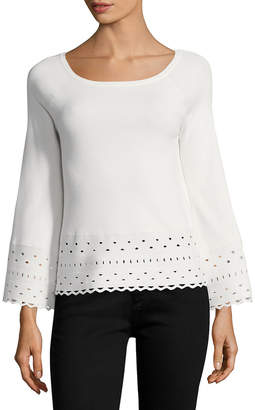 Ramy Brook Dina Perforated Sweater