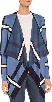St. John Variegated Stripe Knit Cardigan