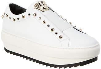 Versace Medusa City Stud Leather Platform Sneaker