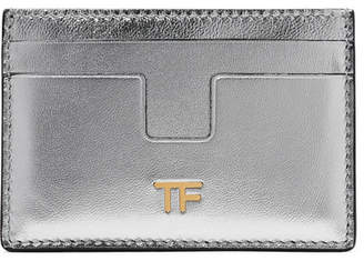 Tom Ford Metallic Leather Cardholder - Silver